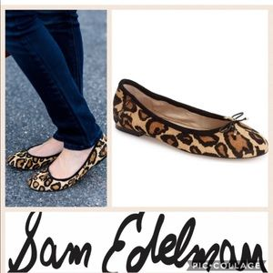 Sam Edelman Felicia leopard animal ballet flats